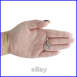 10K Yellow Gold Real Diamond Native American Indian 1.30 Mens Pave Charm 1/3 CT