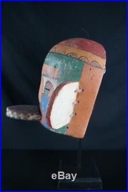 15# Antique Kachina MASK HOPI, Native American, Plain Indians, HORSE HAIR