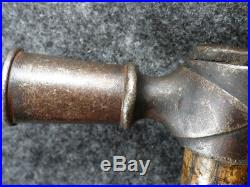1770 Sioux Indian Pipe Tomahawk Head Forged From Gun-barrel Old Ash Hafting