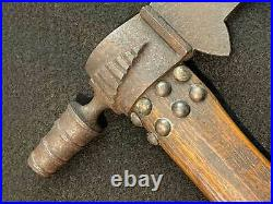 1800's Native American Pipe Axe Tomahawk Forged Head Plains Indian Unusual Bowl
