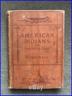 1899 ANTIQUE NATIVE AMERICAN INDIAN History TRIBES Legends WAR Rituals DANCES