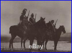 1900/72 Photo Gravure NATIVE AMERICAN INDIAN Custer Crow Scouts Art CURTIS 11x14