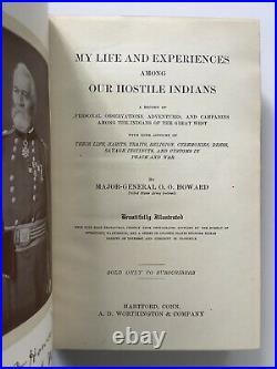 1907 My Life Among Hostile Indians Howard Native Americans 10 Chromolithographs