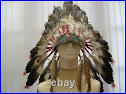 19th Century Sioux North American Indian War Bonnet/Head-dress