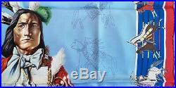 1stED HERMES Pani La Shar Pawnee SILK SCARF Kermit Oliver Native American Indian