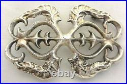 3.55X2.5 XLARGE Navajo Indian BELT BUCKLE TUFA SAND CAST Sterling Silver KETOH