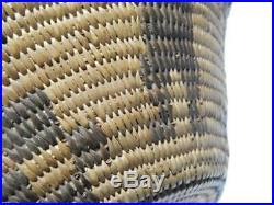 ANTIQUE / VINTAGE PIMA INDIAN BASKET BOWL c1890-1920 XLNT figural DSGN NICE