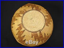 A Nice Kawaiisu polychrome basket hat, Native American Indian, circa 1895