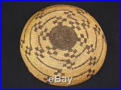 A Pima tray with geometric designs, Native American Indian basket, circa 1920