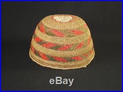 A Rare Northwest-California Hat, Native American Indian Basket, Circa 1920