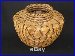 A Yokuts Bottleneck Olla, Native American Indian Basket, Circa 1906