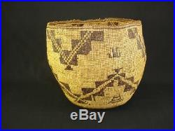 A nice, large and unique Pit River Basket Native American Indian, Circa1910