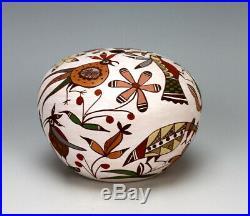 Acoma Pueblo Native American Indian Pottery Bird Seed Jar #4 Diane Lewis