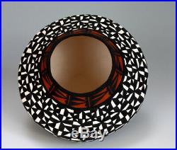 Acoma Pueblo Native American Indian Pottery Eyedazzler Vase Sandra Victorino