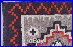 Admirable Antique Native American Navajo Indian Hand Woven Wool Rug 3.4 x 5.4