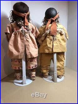 Annette Himstedt Dolls Takumi & Takuma 10th Anniversary Cheyenne Indian Set 25