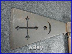 Antique Arapaho Indian Pipe Axe Tomahawk Star Moon Cross Cutouts Colorado Estate