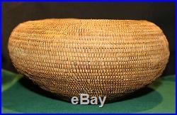 Antique Native American Indian Mission Basket 9 1/2 Diameter