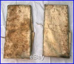 Antique Native American Indian Parfleche Envelope Hide Case Pair Of 2 Rare