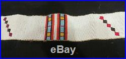 Antique Native American Indian Plains Sioux Blackfoot Beaded Blanket Strip