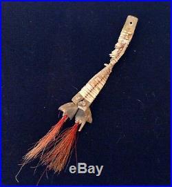 Antique Native American Indian Quill Tipi Ties / Ceremonial Drops (circa 1860)