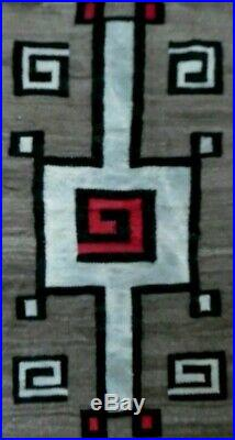 Antique Navajo Rug Blanket Native American Indian Tapestry Weaving CN Cotton