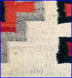 Antique Navajo Rug Blanket Native American Indian Transitional Weaving Tapestry