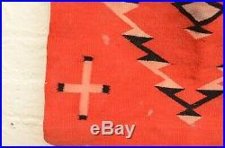Antique Navajo Rug Germantown Square Native American Indian Weaving Vintage red