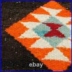 Antique Navajo Rug Saddle Blanket Native American Indian Twill Weaving