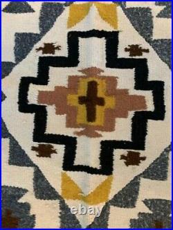 Antique Navajo Rug Saddle Blanket Native American Indian Weaving Tapestry