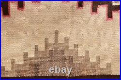 Antique Navajo Rug native american indian weaving Textile LARGE 65x42 Vintage