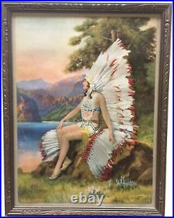 Art Deco Indian Maiden artist R. Atkinson Fox
