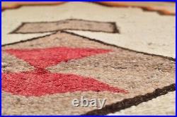 Atq VTG Navajo Saddle Blanket Rug Native American Indian textile Weaving 30x29