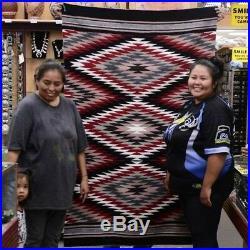 Auth Native American Indian Navajo Chinle Wool Rug Handwoven By Glorilene Harris