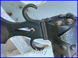Authentic Mid 1800's Sioux Indian Spontoon Pipe Tomahawk Forged Iron Head