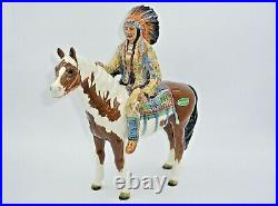 Beswick Mounted Indian (Native American) on Skewbald Horse. By Mr. Orwell