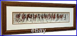Bev Doolittle Two Indian Horses Matted & Framed Open edition Art Print