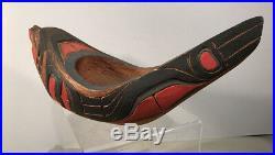 C1950 Native American Indian Kwakiutl Seal Cedar Wood Feast Bowl Northwest Coast