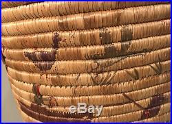 C1950 Native American Indian Yupik Eskimo Story Basket Hunting Seal Kayak Alaska
