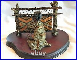C. A. Pardell Signed Legends Sculpture Chief's Blanket 1988 Limited Edition