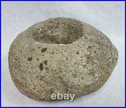 California Yokut Mortar Bowl Native American Indian Grinding Stone Artifact NR