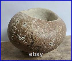 California Yokut Mortar Bowl Pestle Native American Indian Grinding Artifact