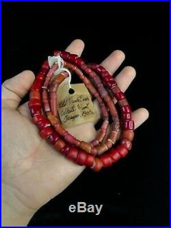 Collection Old Native American White Hearts Indian Trade Beads 1800s OR