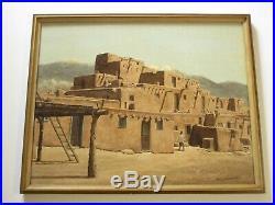 Dale Allen Miller Painting Taos Pueblo Native American Indian Landscape Village