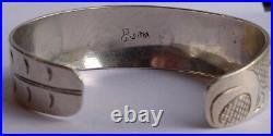 Dave Galanin Sitka Alaska Tlingit Indian Engraved Silver Cuff Bracelet