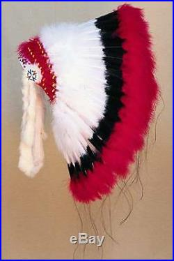 Deluxe Warbonnet Headdress Indian Regalia Head Dress Pow Wow Tribal