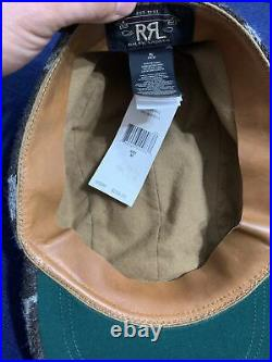 Double RL RRL Polo Ralph Lauren Hat Cap Indian Navajo Western Wool Leather VTG