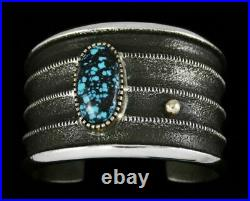 Edison Cummings Indian Mountain Turquoise 14K Gold Over Sterling Silver Bracelet