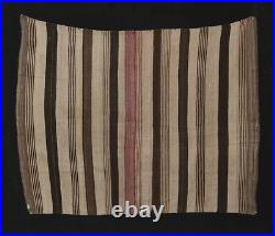 FABULOUS 19th c ANDES INDIAN WEARING BLANKET Big Eccentric Tribal Textile TM7875