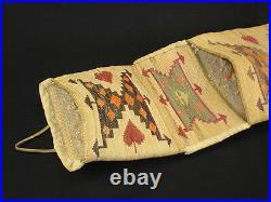 Finely Woven Plateau corn husk wall pocket, Native American Indian Circa 1910